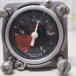 Cessna 140 fuel gauge